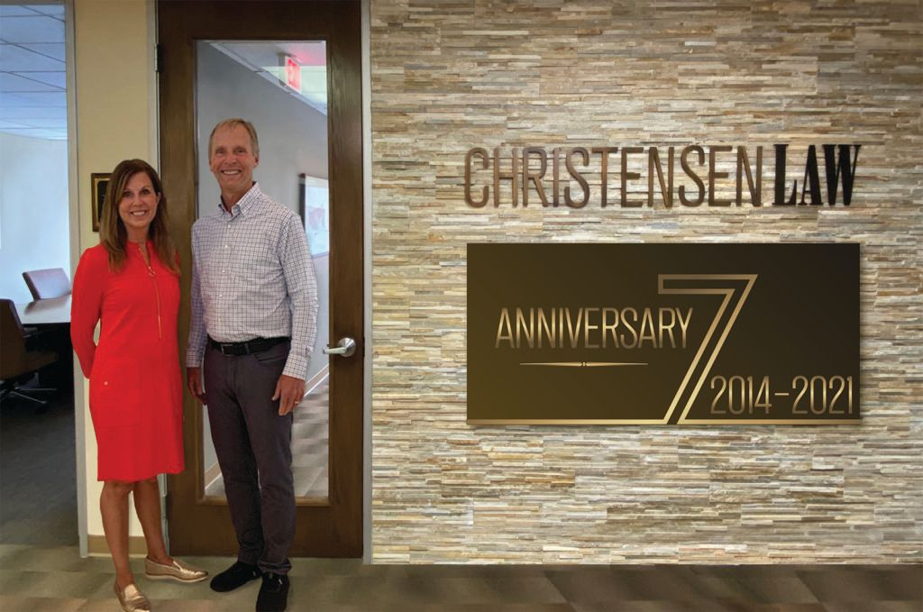 David and Leslie Christensen on 7th Anniversary of the firm
