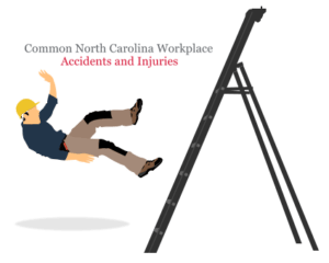 an avatar of a man falling from a stair in the workplace