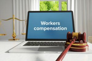 workers compensation on computer monitor