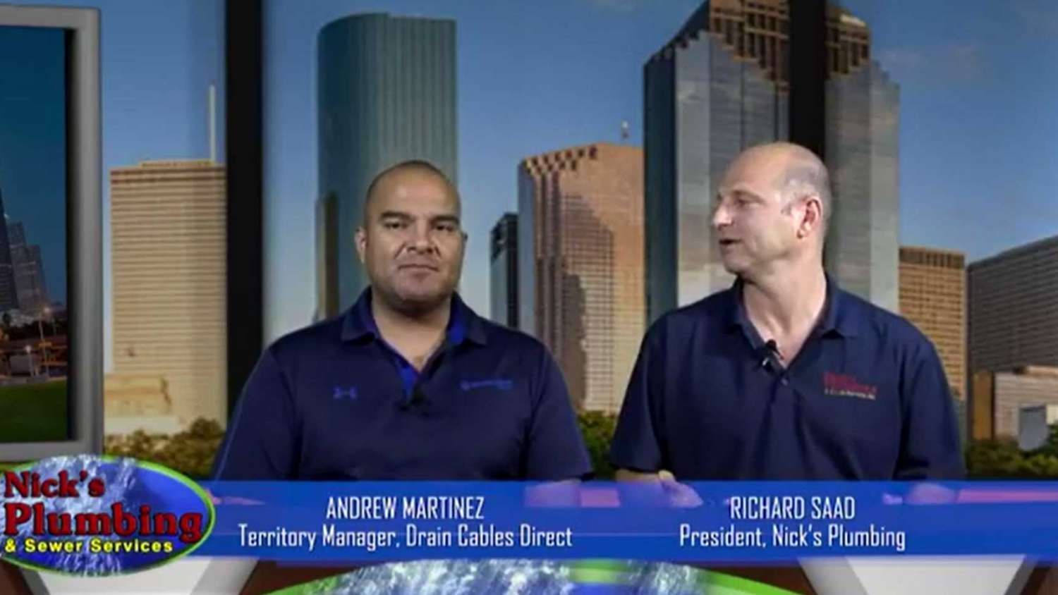 Plumbing Experts from Nick's Plumbing Sit at News Desk in Houston