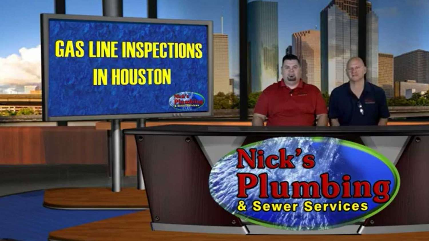 Experts Sitting at a News Desk in Downtown Houston Discuss Gas Line Inspections