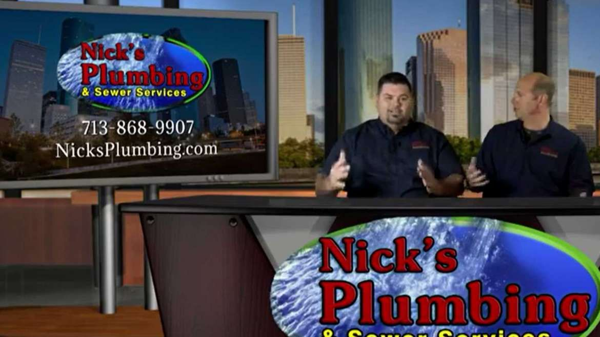 Plumbing Experts from Nick's Plumbing Sit at News Desk in Houston Discuss Drain Snakes