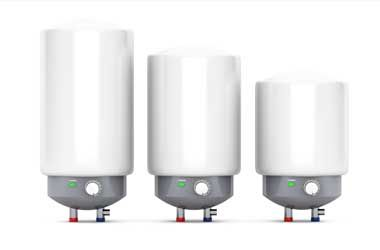A Large, Medium, and Small Sized Electric Water Heater