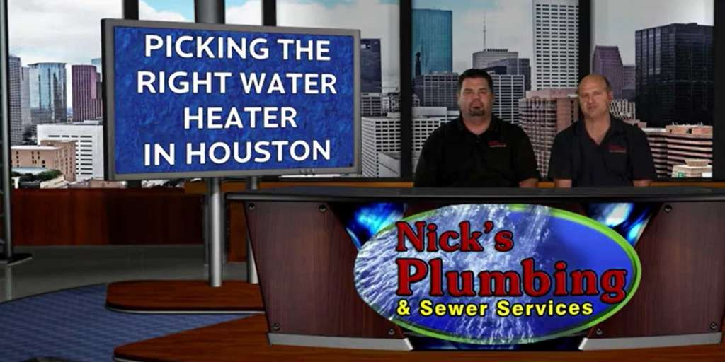 Experts Sitting at a News Desk in Downtown Houston Discussing Water Heaters