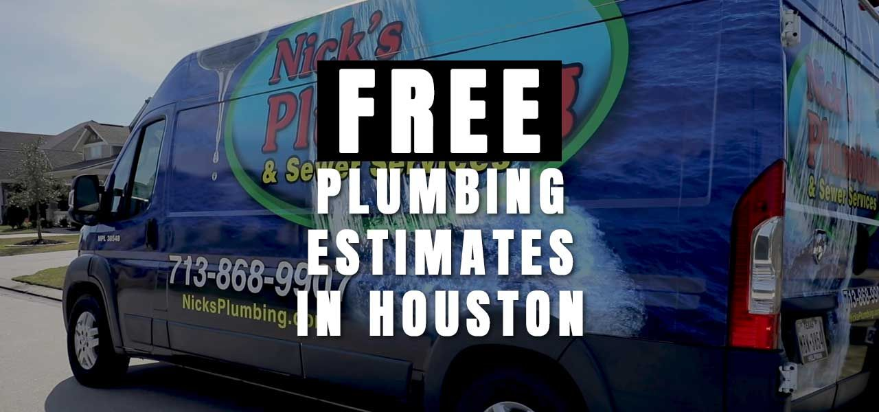 Free Plumbing Estimate in Houston