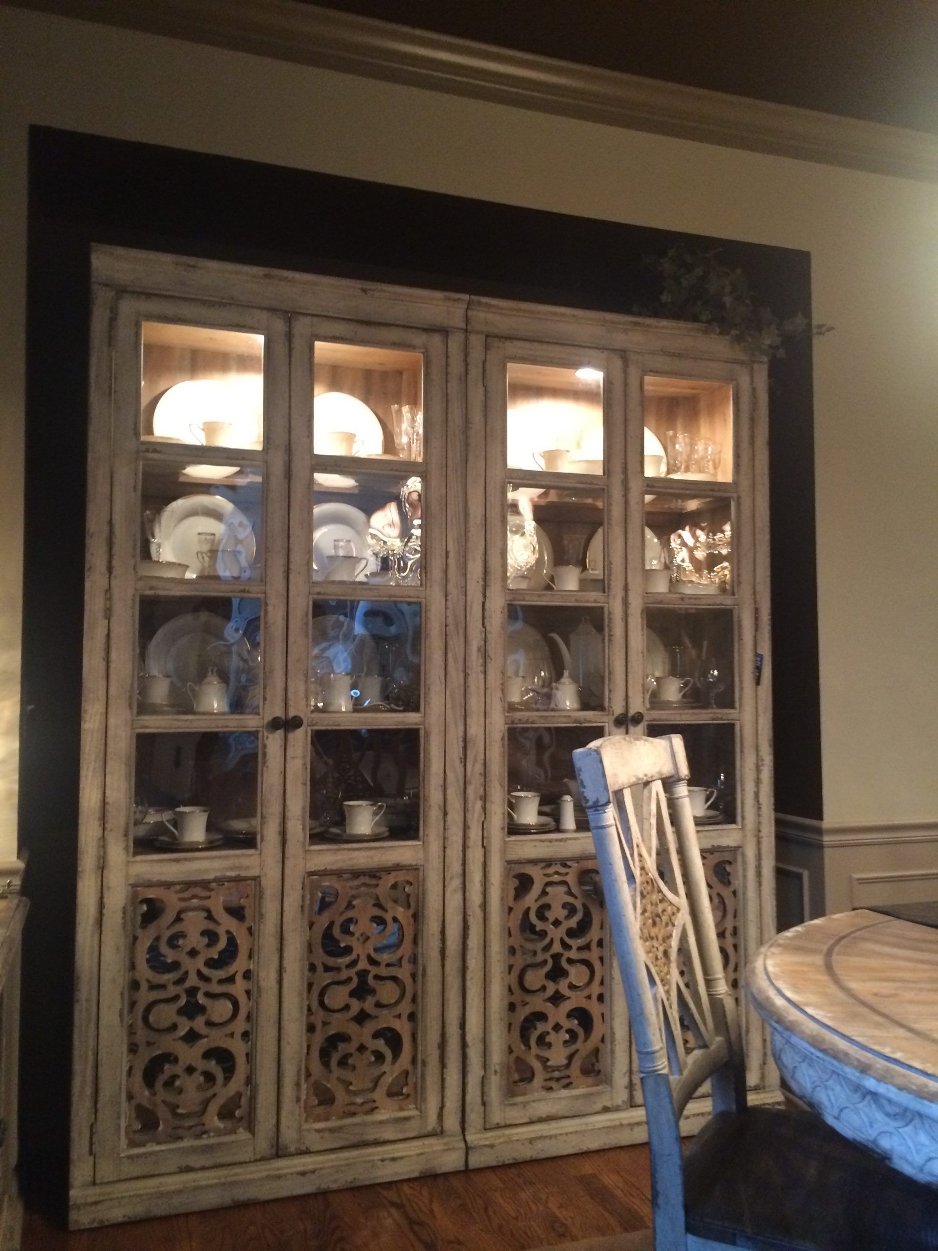 in wall china cabinet