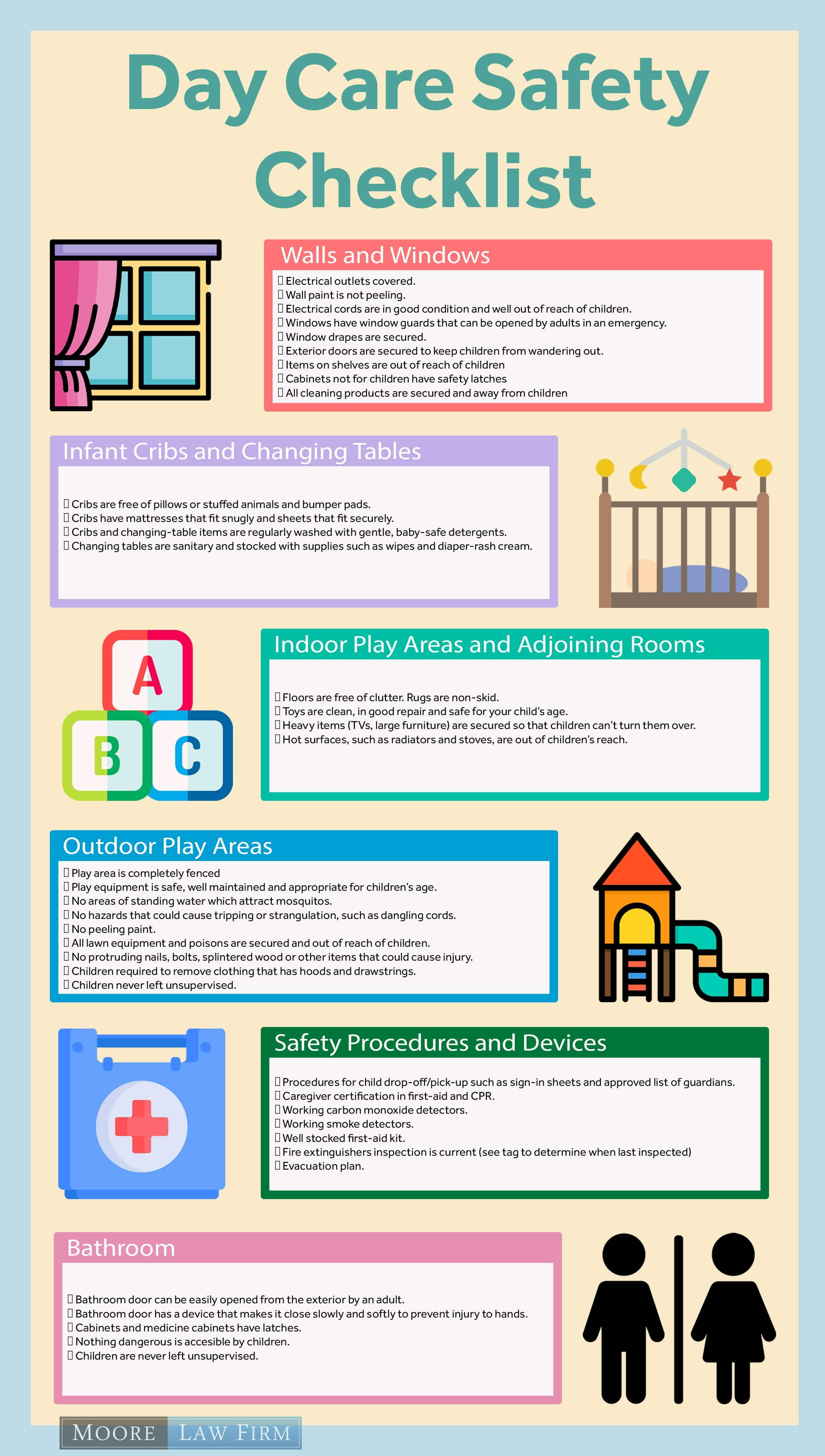 Day Care Safety Checklist Day Care Injury Lawyer Moore Law Firm