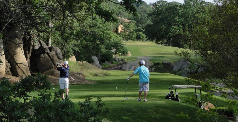 Golfers at Whitney Oaks Country Club in Rocklin, CA