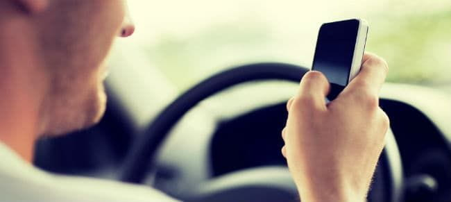 driver texting while driving