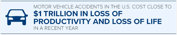 cost of motor vehicle accidents in one year
