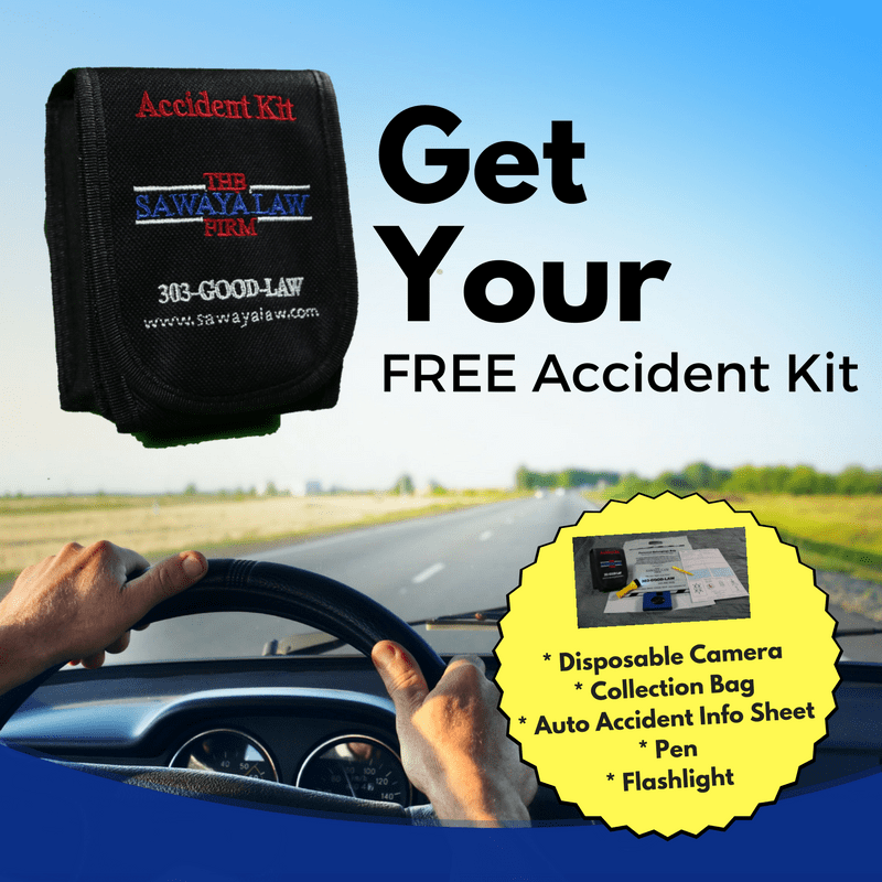 The Sawaya Law firm is offering a free auto accident recovery kit for Colorado drivers