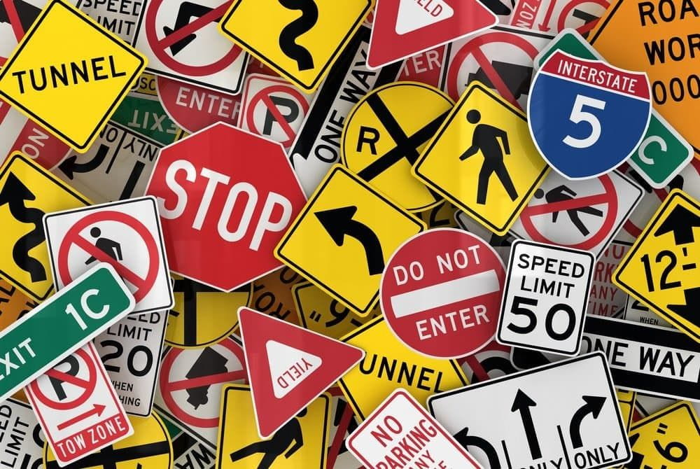American traffic signs to reduce traffic fatalities.