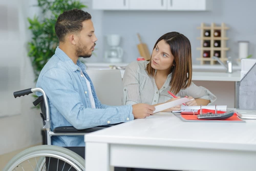 Couple waiting for approval of disability claims.