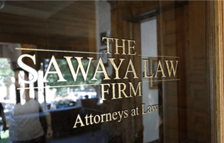 sawaya law firm attorneys at law window