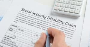 Filling up social security disability claim from.