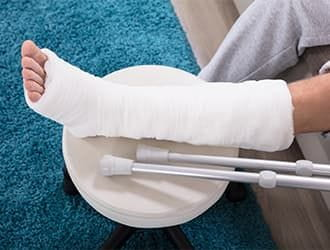 An injured man contacts an injury law firm.