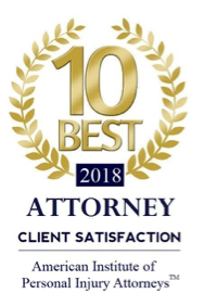 2018 personal injury attorney 10 best award