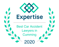 Expertise 2020 car accident lawyer badge