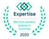 Expertise 2020 Cumming car accident lawyer badge