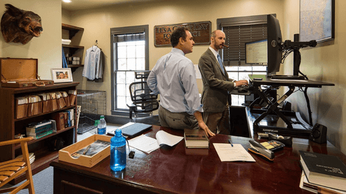 Lawyers working on a case in GA.