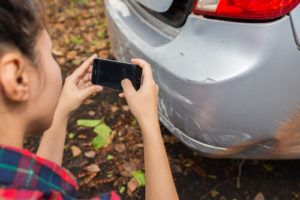 take pictures of accident scene