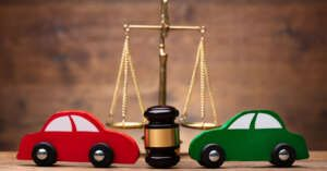 car accident law gavel