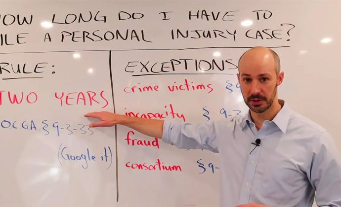 Lawyer Explains Statute of Limitations (or Deadline) in Georgia Personal Injury Cases