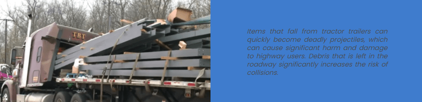 A truck loses a load in GA.