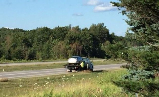 One of five vehicles involved in the crash, photo courtesy of WZZM