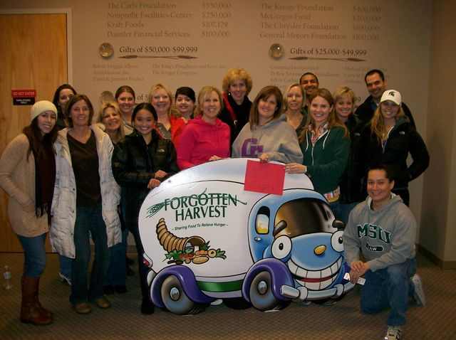 A group shot of our attorneys and staff at Forgotten Harvest.