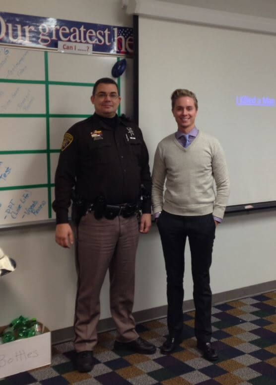 Attorney Brandon Hewitt and Oakland County Sherriff Deputy Lee Van Camp