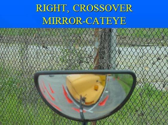 Bus crossover mirrors