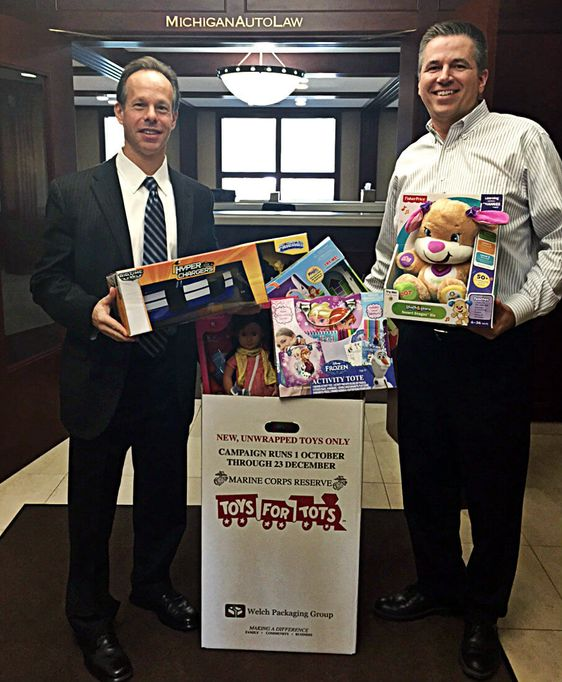 Michigan Auto Law Toys for Tots 2015