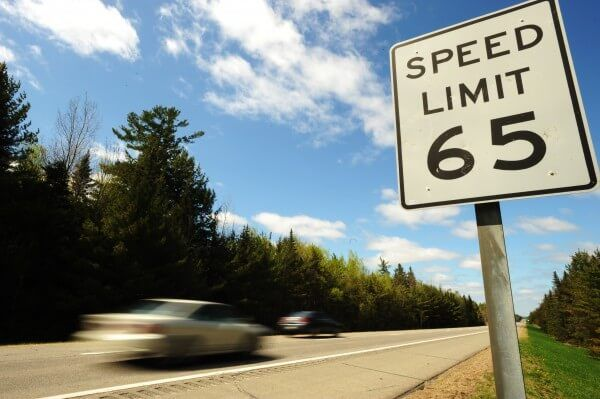65 mph speed limit, image