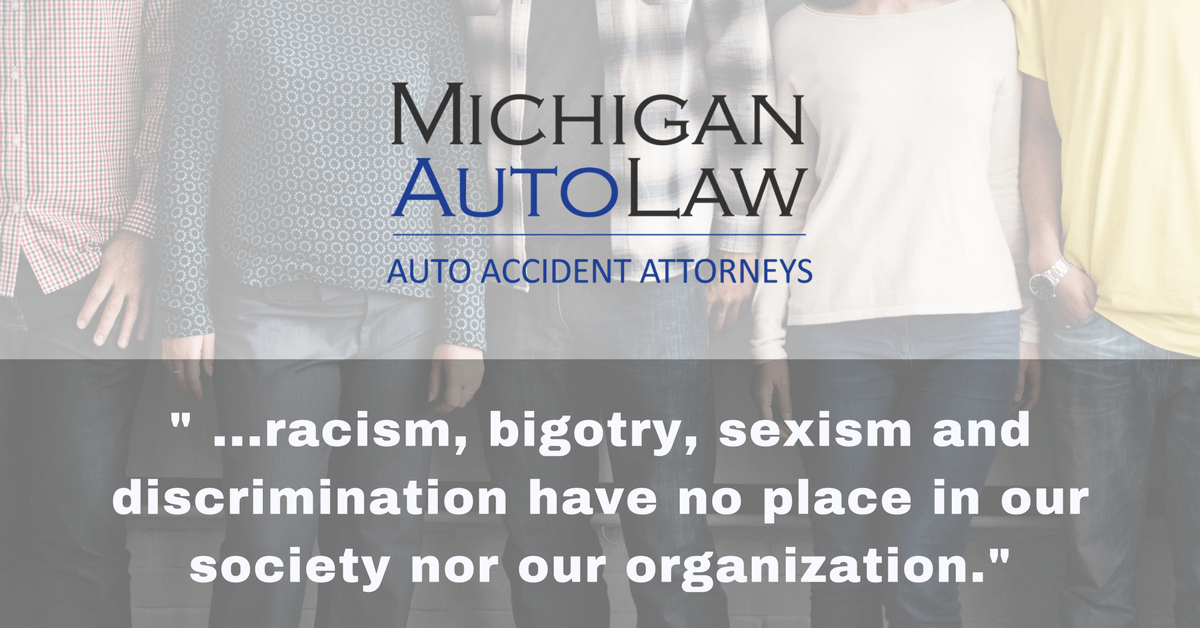 Quote from Michigan Auto Law about Charlottesville