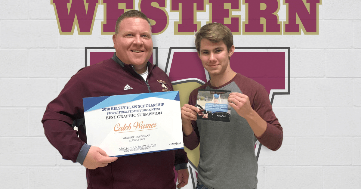 Kelsey's Law Distracted Driving Scholarship 2018 Winner for Best Graphic: Caleb Warner