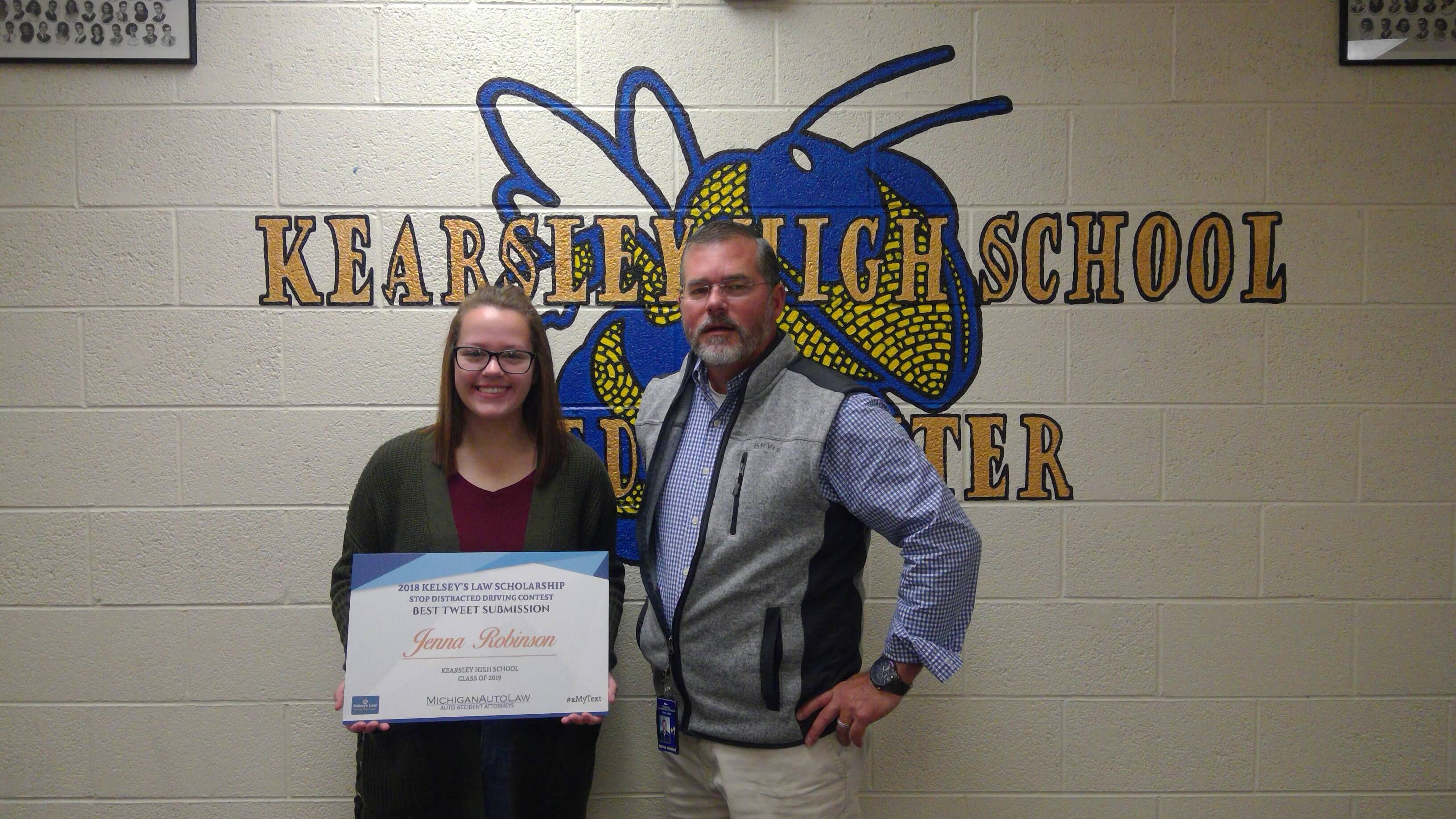 Kelsey's Law Distracted Driving Scholarship 2018 Winner for Best Tweet: Jenna Robinson