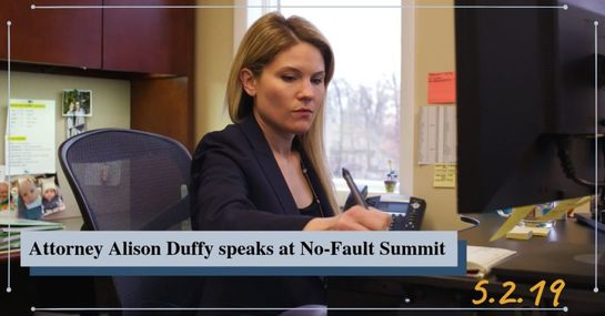Alison Duffy Speaks At No-Fault Summit | Michigan Auto Law