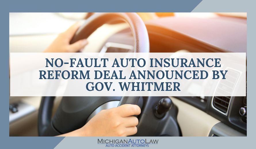 Gov. Whitmer Announces No-Fault Auto Insurance Deal