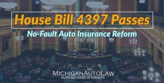 House Bill 4397: Michigan House passes its own version of No-Fault auto insurance reform
