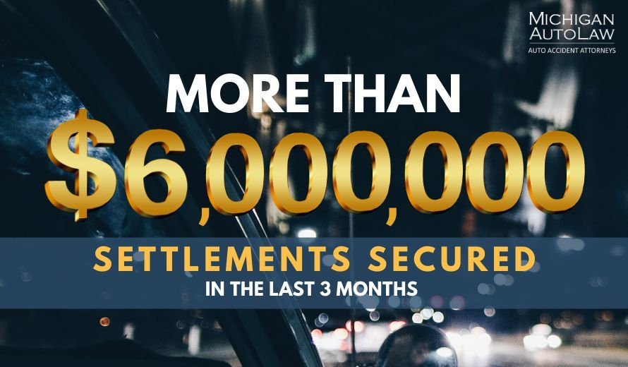 Car Accident Injury Settlement Amounts: Over $6 Million In Last 3 Months