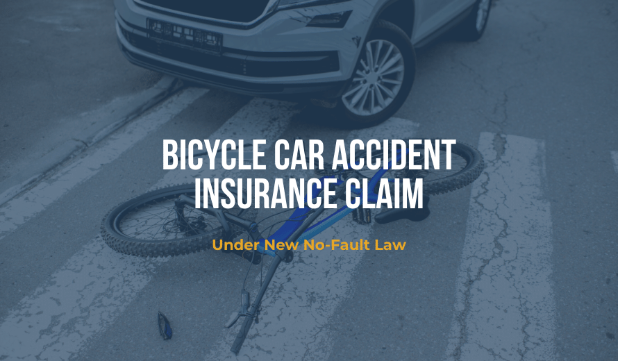 Bicycle Car Accident Insurance Claim Under New No-Fault Law