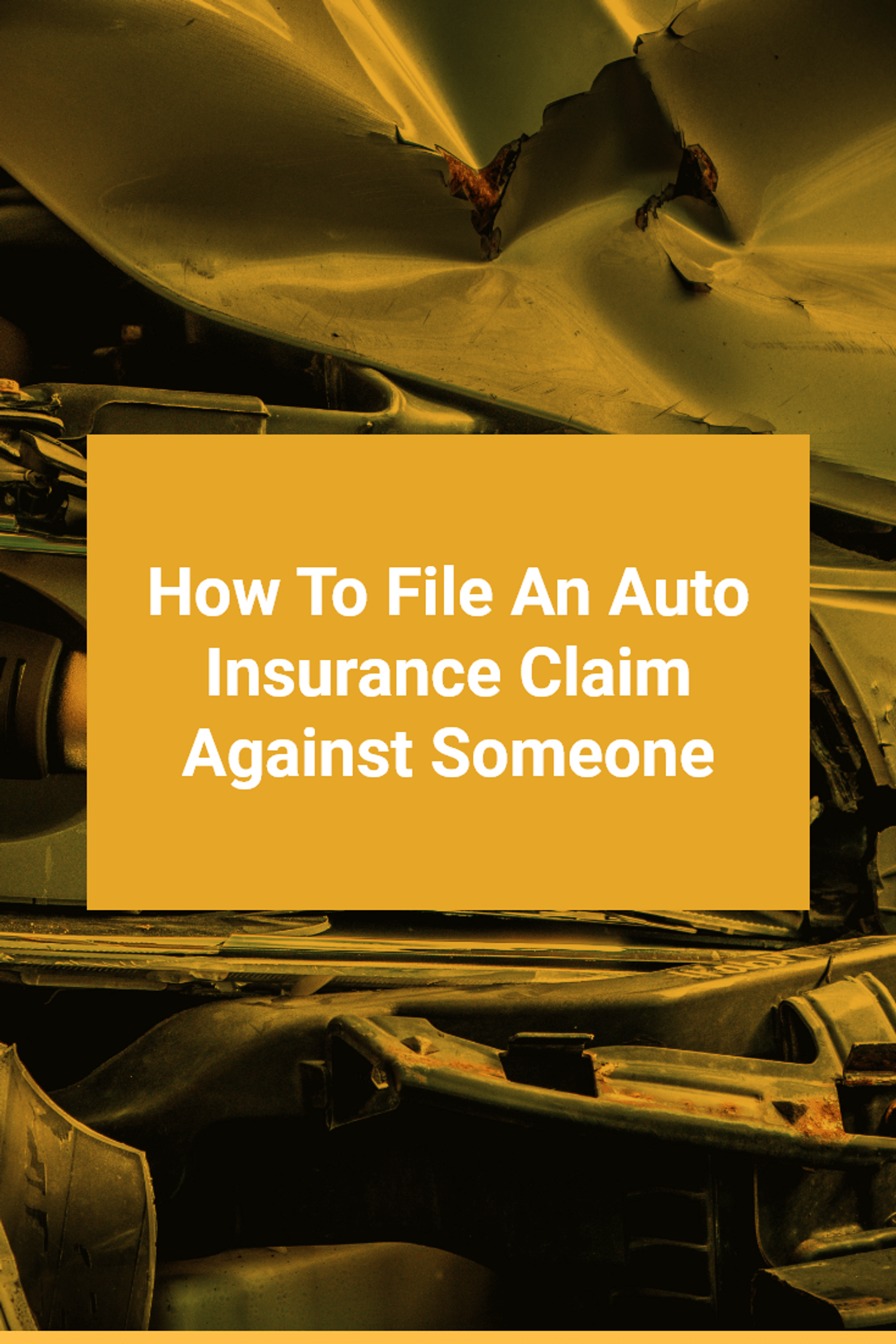How To File An Auto Insurance Claim Against Someone in Michigan
