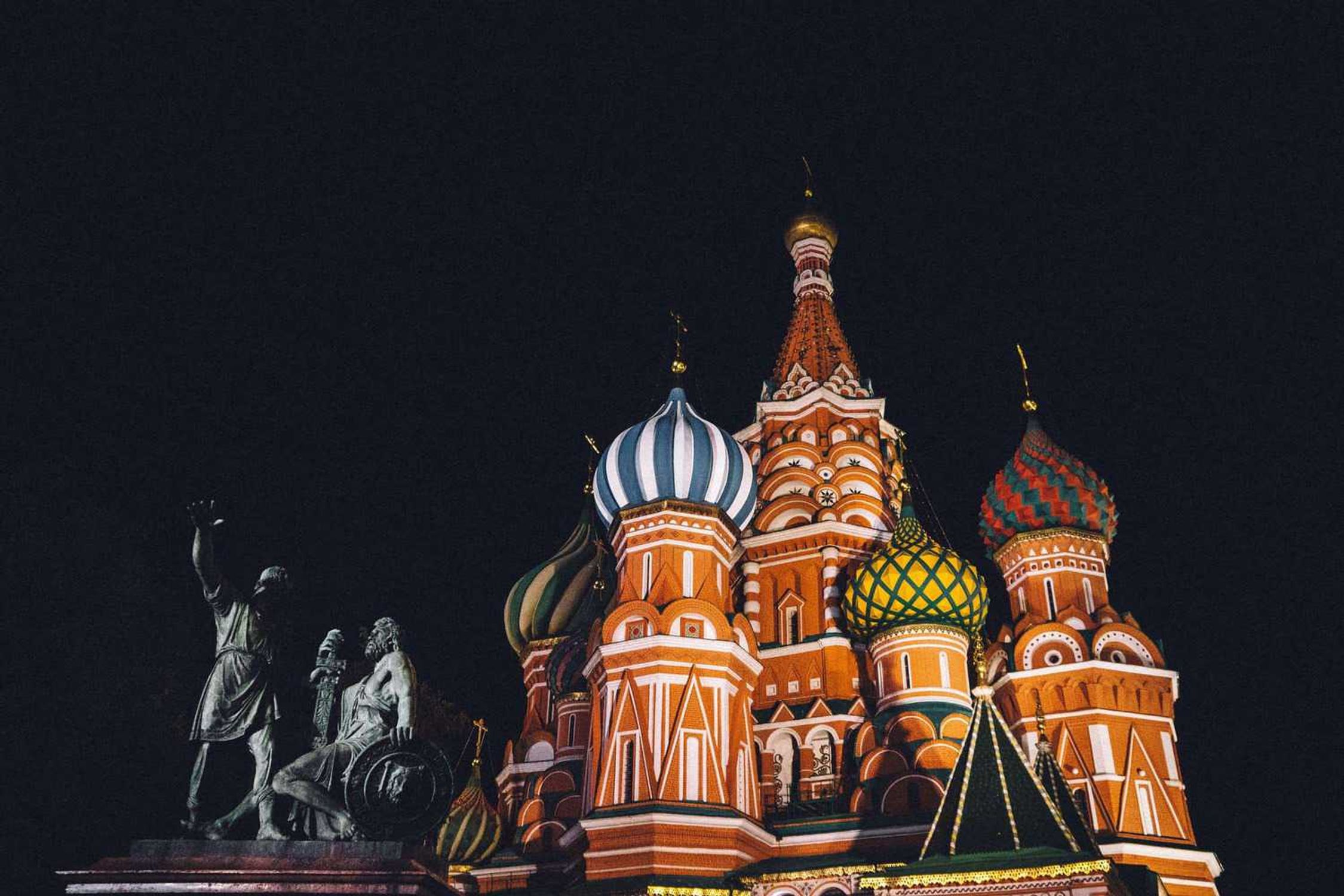 St. Basil's Cathedral, Red Square in Moscoe