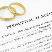 Wedding rings on top of prenuptial agreement