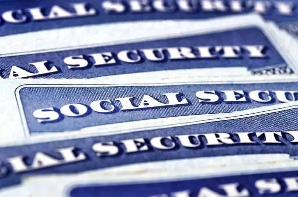 Close up of stack of Social Security Cards