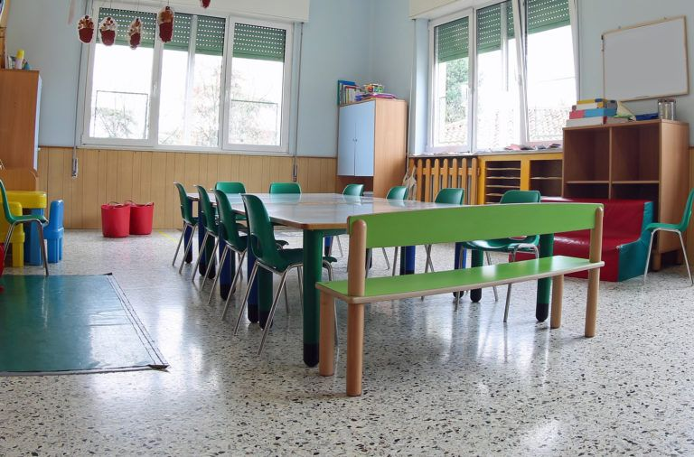 Inside A Classroom Of A Daycare Center Without Children