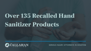 over 135 recalled hand sanitizer products