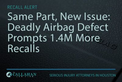 Same Part, New Issue: Deadly Airbag Defect Prompts 1.4M More Recalls