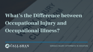 occupational injury vs occupational illness